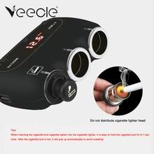 Veecle 2 USB Port 3 Way 2 4A LED Car Cigarette Lighter