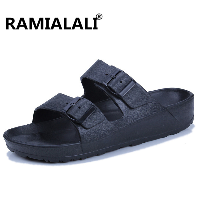 e455da382 Ramialali Summer Cool Men Slippers Sandals Beach Slippers Comfortable  Fashion Slippers Men Flip Flops Men Shoes Plus Size 45