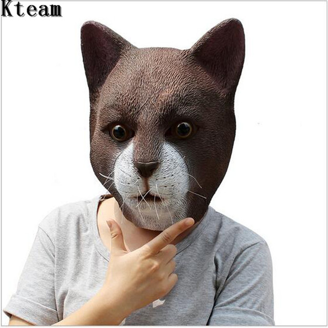 Cat Head Latex Mask Full Face Adult Mask Breathable Christmas Masquerade Fancy Dress Party Cosplay Costume & Cat Head Latex Mask Full Face Adult Mask Breathable Christmas ...