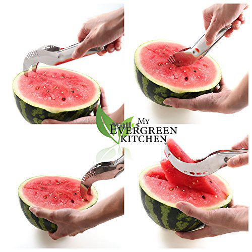 Watermelon Knife Cutter Slicer Corer Server Scoop Kitchen Tool Fruit Knife Splitter Slicer Cutter