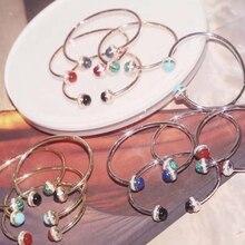 S925 prata esterlina feminino 2 bola ratate pulseira pulseira rosa ouro cz spin bola pulseiras famosa marca jóias 5 cores