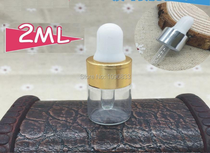 2ML Essential Oil Vial, 2ml Pipette Dropper Vials, Glass Bottle With Rubber Dropper, Cosmetic Glass Bottles, 100pcs/Lot