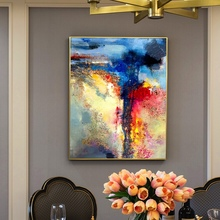 Professional Artist Hand-painted High Quality Abstract Oil Painting For Wall Decorative Modern colorful Canvas
