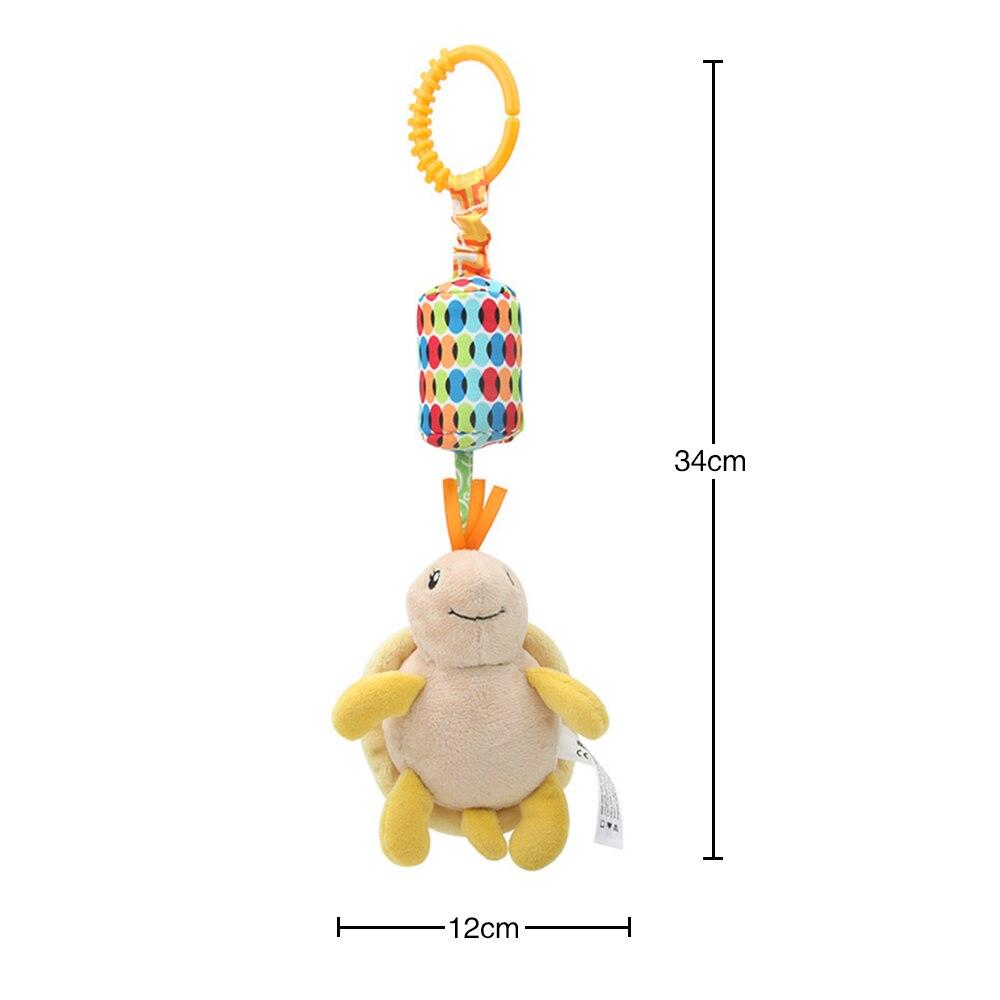 Детские погремушки Fulljion, развивающие игрушки для детей, Прорезыватель для зубов, Колокольчик для малышей, детская коляска, подвесные куклы - Цвет: tortoise