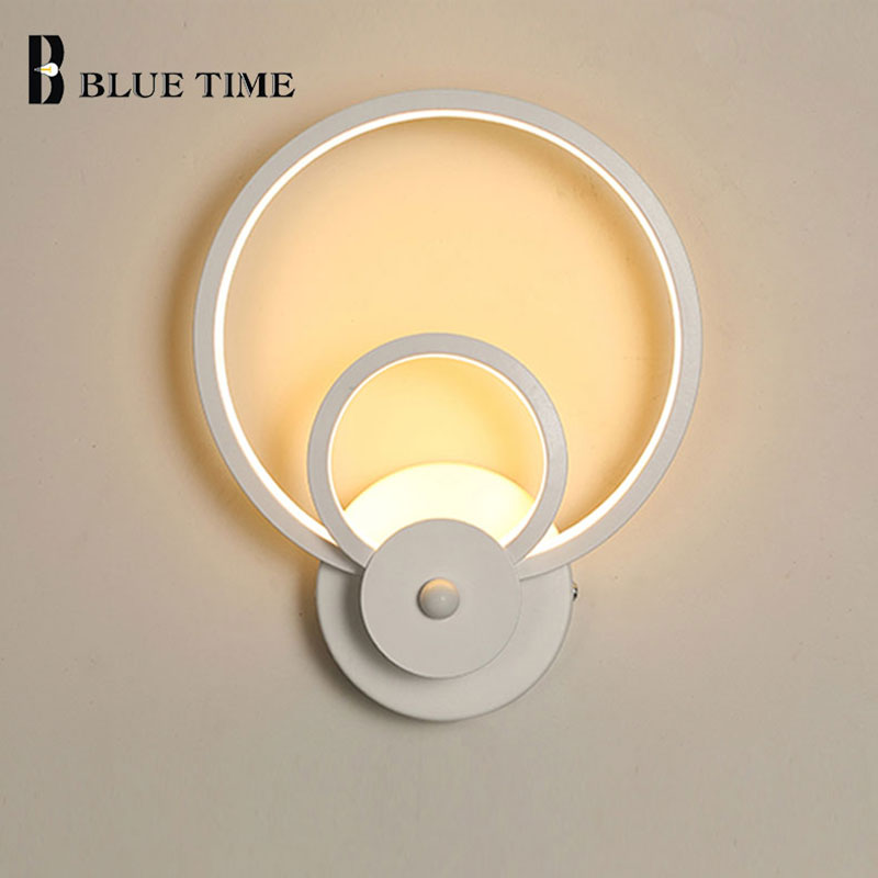 Simple Modern Led Wall Light For Living room Bedroom Dining room Bedside Lamps White Sconce Led Wall Lamp Creative Light Fixture