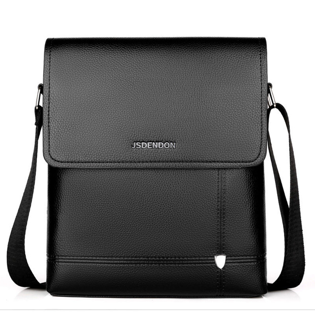 2019 New Business Travel Men s PU Solid Color Large Capacity Messenger Bag Classic Design Casual