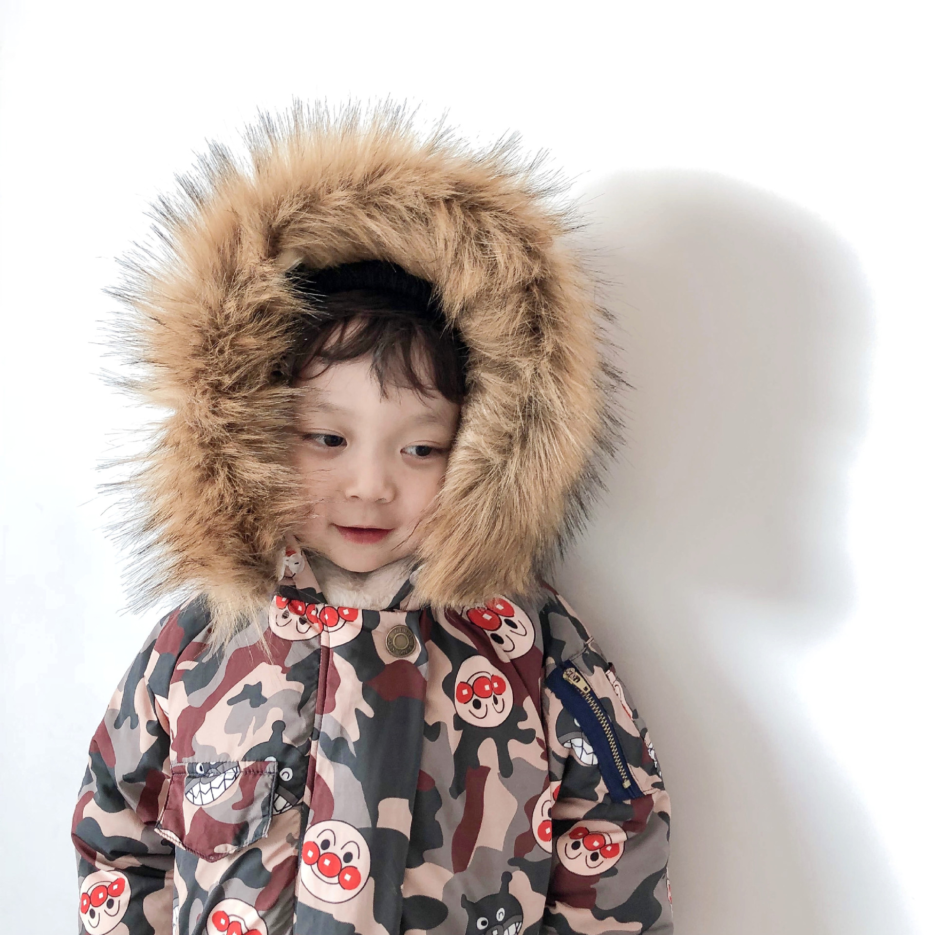 BOBO CHOSES BOYS WINTER COAT WINTER JACKETS GIRL COAT FUR BABY BOY CLOTHES KIDS WINTER JACKETS KIDS WINTER JACKET BOYS COAT baby boys girls jackets 2018 new winter fashion fur collar jacket kids warm hoodies children outwear kids coat boys girl clothes