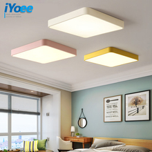 цены Square LED Ceiling light with remote control for home lighting Kitchen room lamps light ultra-thin ceiling lamp led luminaire