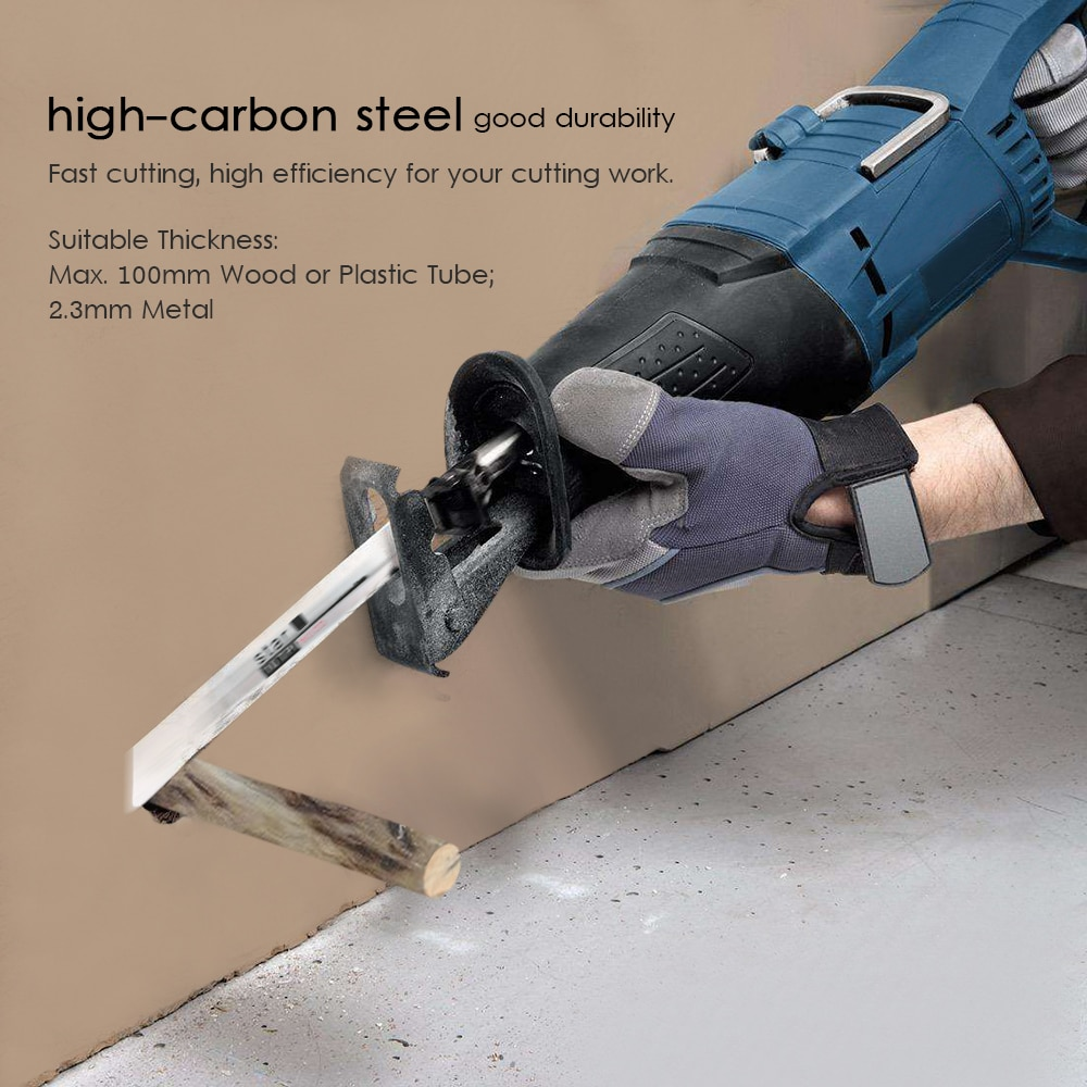 Reciprocating Saw Web Set Wood Metal Fast Cutting Jig Saw Band Saw 3pcs 6