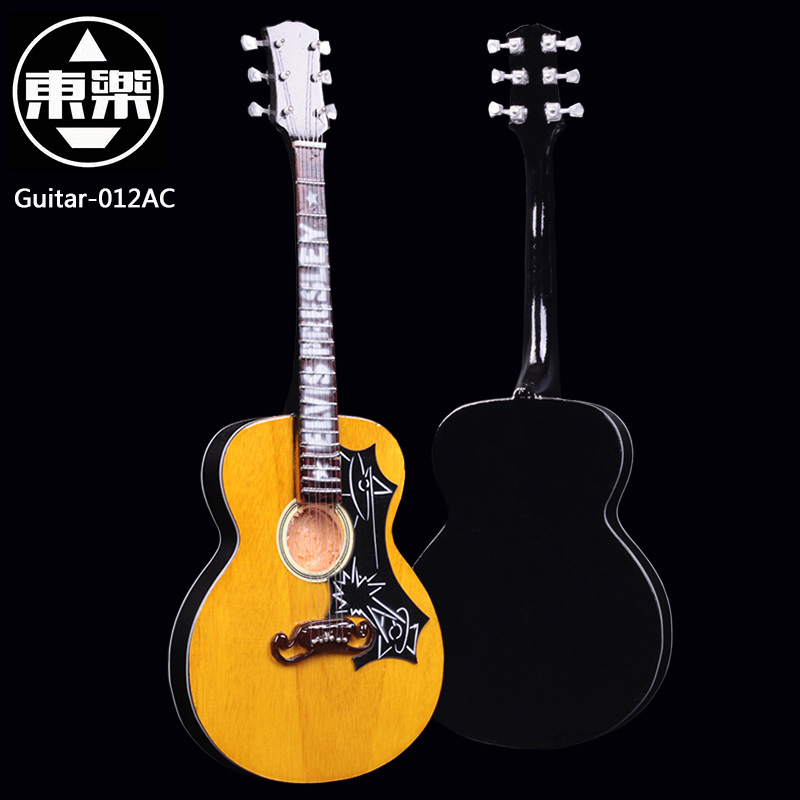 Wooden Handcrafted Miniature Guitar Model guitar-012AC Guitar Display with Case and Stand (Not Actual Guitar! for Display Only!) wooden handcrafted miniature guitar model guitar 087 guitar display with case and stand not actual guitar for display only