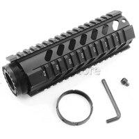 Hunting Optics Tactical 7 Inch AR 15 Pistol Free Float Handguard Picatinny Rail Mount System Fit
