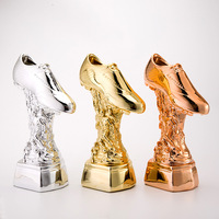 The Best Shooter Award The World Golden Boots Trophy Cup Football Soccer Souvenirs Award for Soccer Match Three colors available