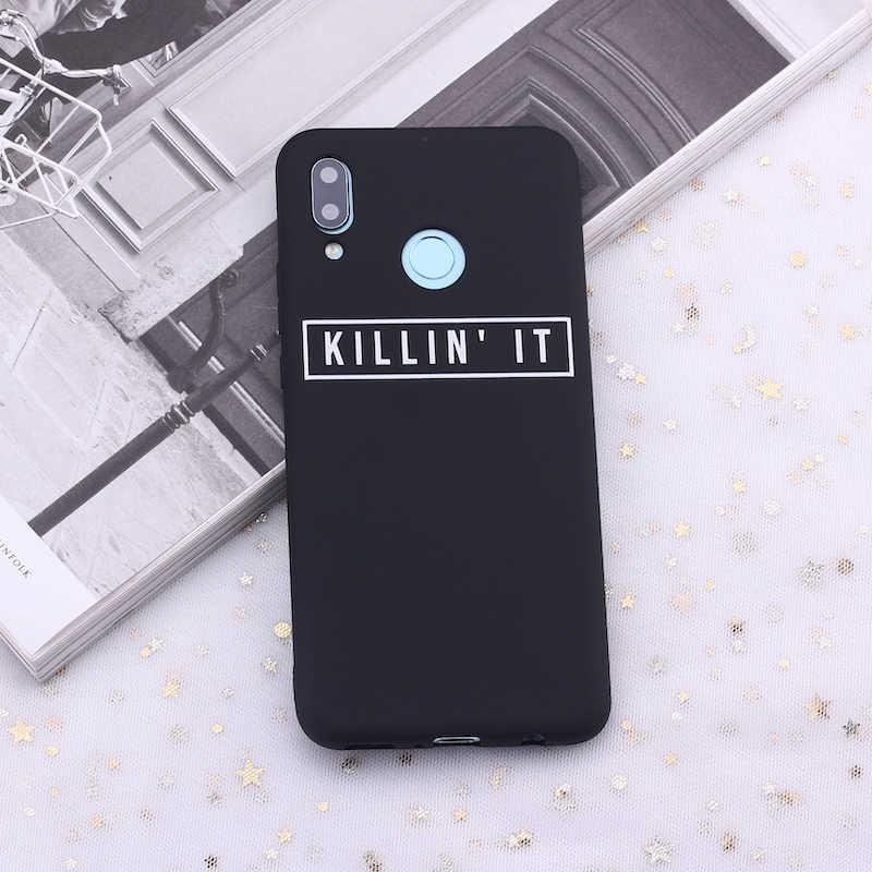 Samsung S8 S9 S10 S10e S20 artı not 8 9 10 A7 A8 sigara öldürür Tumblr tırnak silikon telefon kılıf kapak çapa Fundas