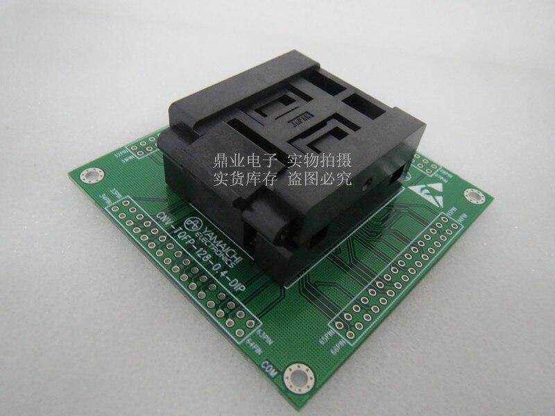IC51-1284-1702 LQFP128 spacing 0.4mm IC Burning seat Adapter testing seat Test Socket test bench in stock free shipping