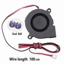 Gdstime 2 PCS 24V Dual Ball Bearing 3D Printer 50x50x15mm DC Cooling Fan 50mm x 15mm Long Cable Blower Cooler Radiator 5015