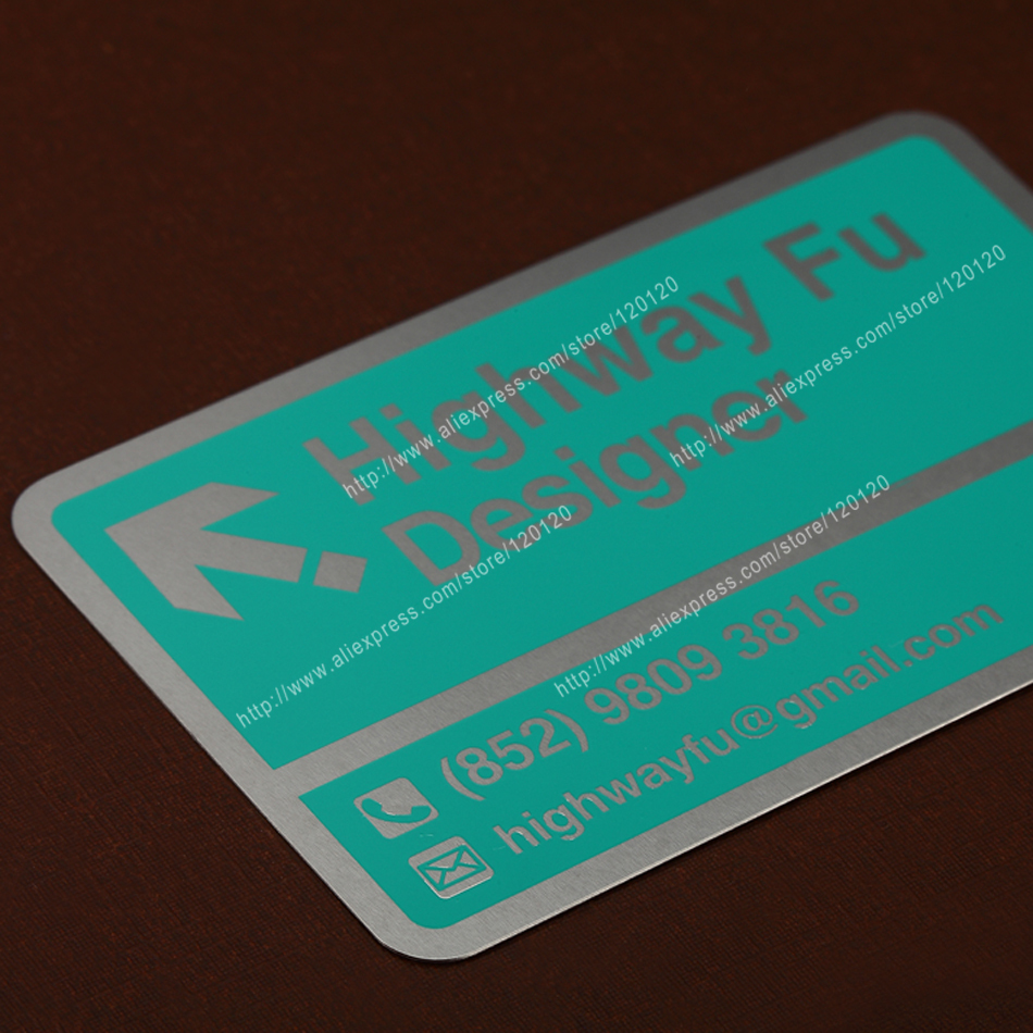 Personalized Laser Engraving Quality Electrophoretic Black Business Metal Card