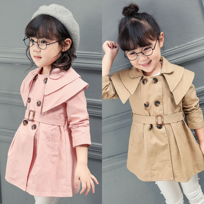 47f0868cf New Baby Girl Trench Coat Khaki RED Pink Color Girls Blazer Camperas ...