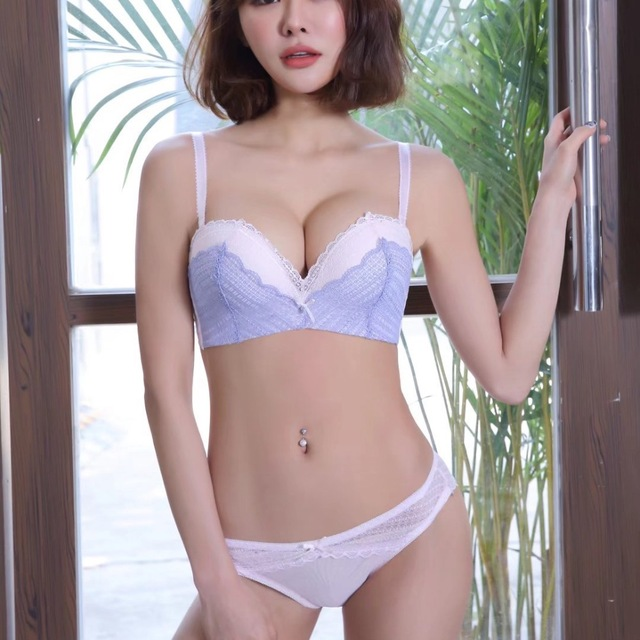 15560bc5c2f84 Half cup lace adjustable young girls bra set push up underwear sets  wireless seamless small side gather sexy intimates 3 colors