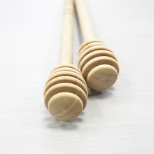 SEAAN High Quality Honey Stir Bar Mixing Handle Jar Spoon Practical 1Pc Wood Dipper Long Stick Supplies Kitchen Tool