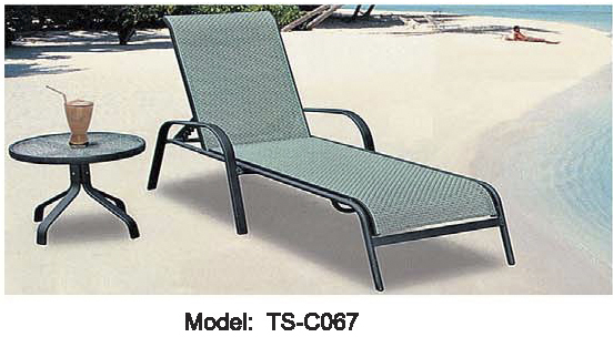 Poolside Bed furniture garden sofa chair set pe rattan lying bed set outdoor