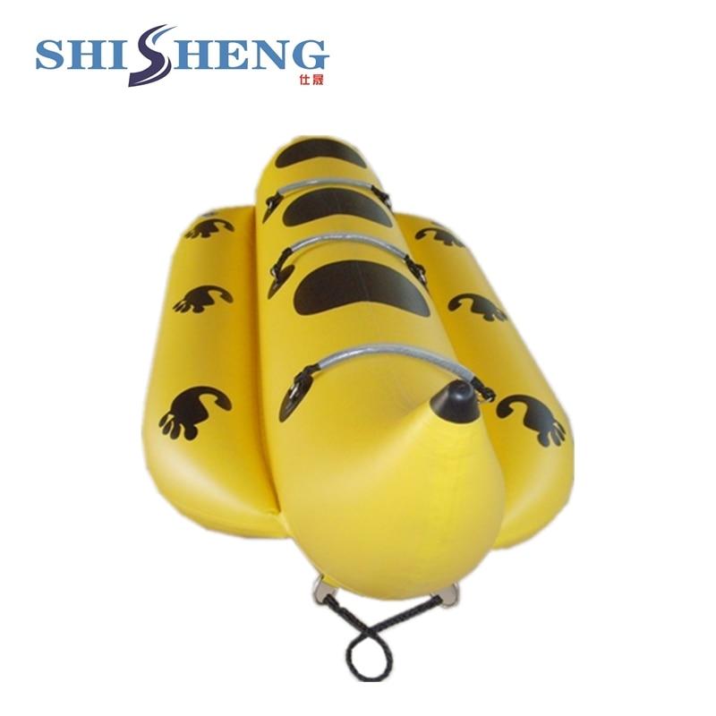 Summer Popular Commercial Grade Opblåsbare Vand Banan Båd til salg