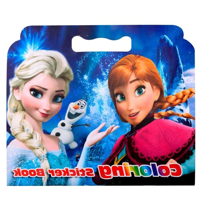 16 páginas nieve princesa Girls Coloring Sticker libro para niños ...