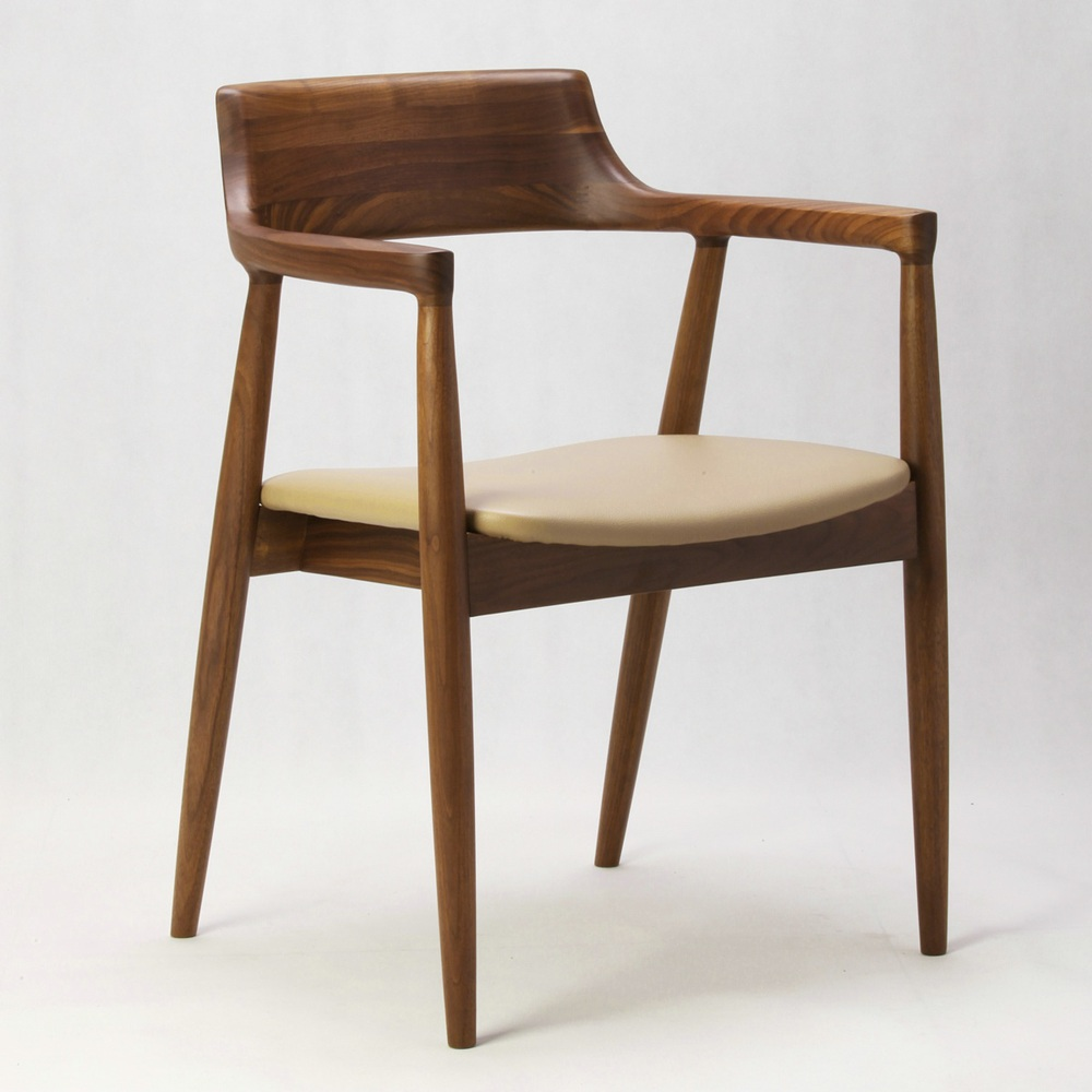 Walnut Armchair Lounge Chair Dining Chair Hiroshima Naoto