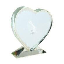 JB-13 в форме сердца пустая кристальная фоторамка для сублимации на заказ