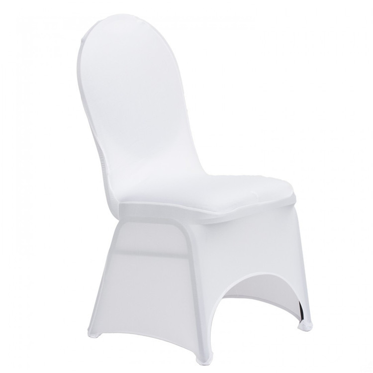 spandex lycra stretch wedding chair cover for banquet party/Universal White Stretch Polyester Wedding Party Spandex Chair Covers