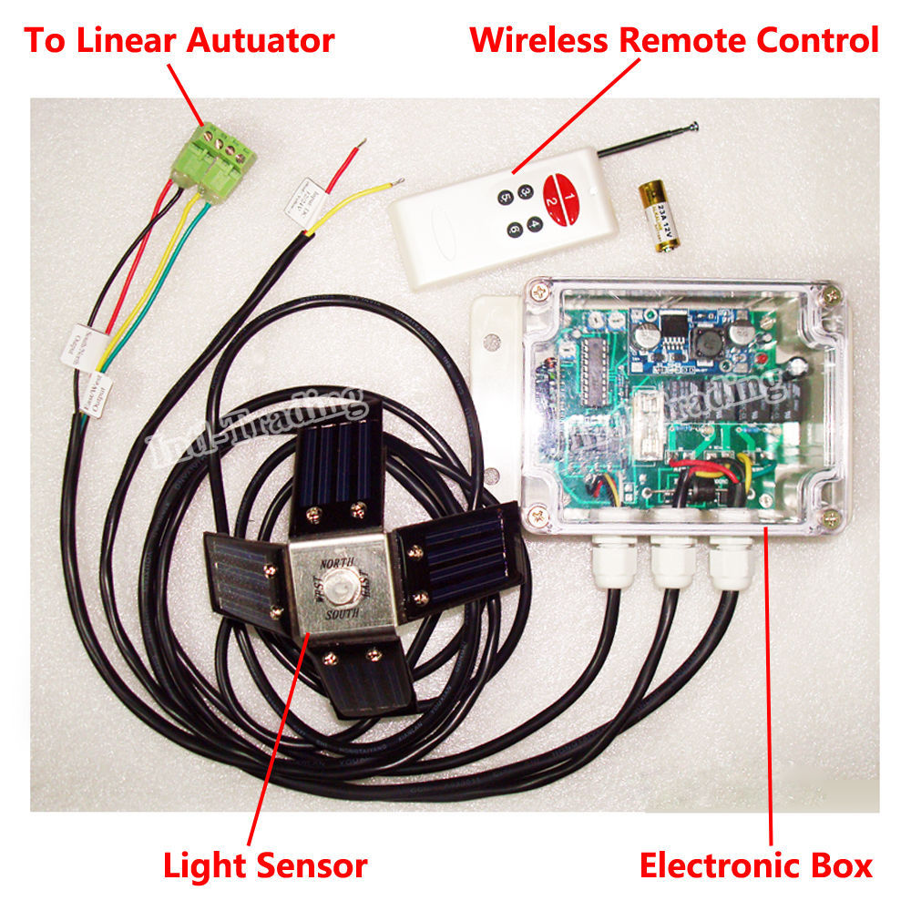 aliexpress com buy complete dual axis solar tracking system dc 12V Linear Actuator Wiring Diagram Linear Actuator Wiring For Dual Switches aliexpress com buy complete dual axis solar tracking system dc 12v 6\