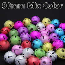 New Mixed Color Round Shape(50 40 35 30)mm Copper Shape Jingle Bells For Charm Bells Necklace Fit Festival/Party/Pet's Necklace