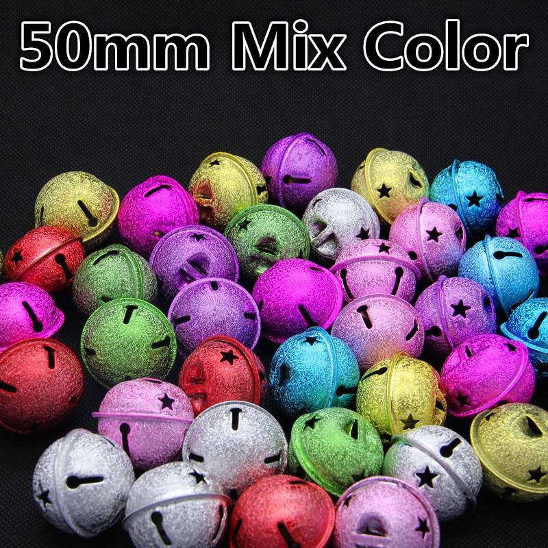 Nuevo Color Mezclado de la Forma Redonda (50 40 35 30) mm de Cobre Cascabeles Fo