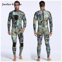 Chloroprene rubber blue camouflage diving suit hunting diving suit men's camouflage clothing 3mm diving suit one piece wetsuits