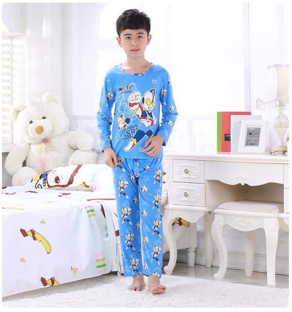 8d606d17d95d Online Shop Kids sleepwear cartoon pajamas sets baby teenage boys ...