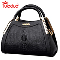 New Luxury Women Alligator Bags High Quality Ladies Famous Designer Tote Bag Elegent Leather Bags Zipper Crocodile Print Handbag