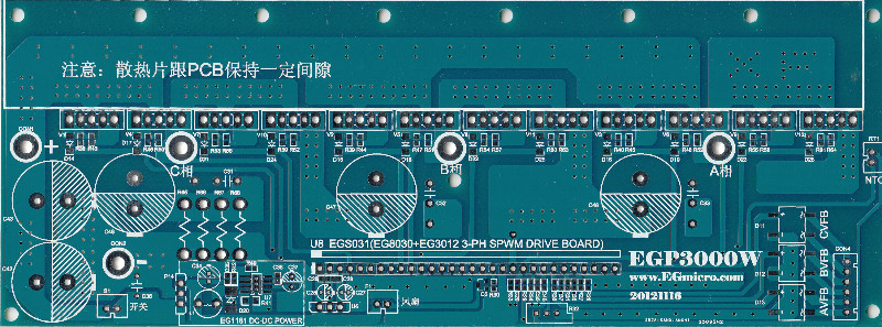 Pure sine wave EGP3000W three-phase inverter power bottom PCB board цена и фото