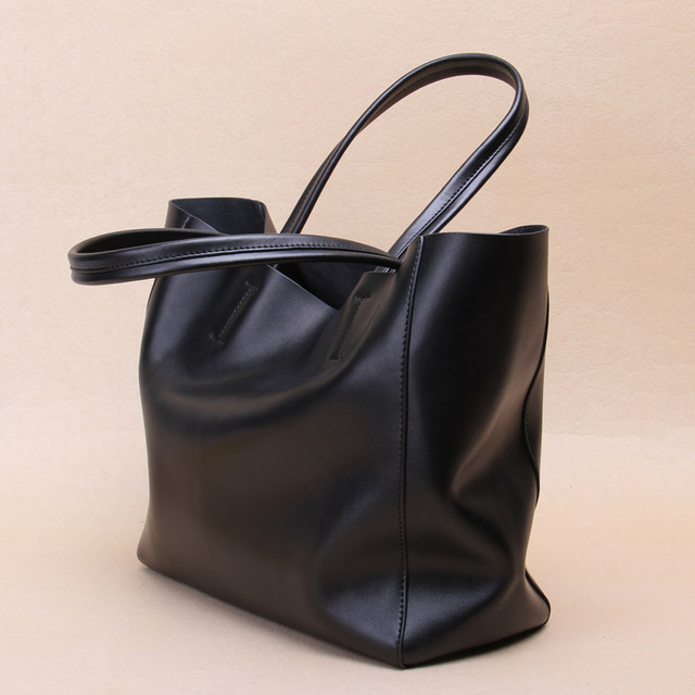 Malluo Genuine Leather Luxury Handbags Women Bags Polyester Handbag Soft Simple Wild Female Model Messenger Bag