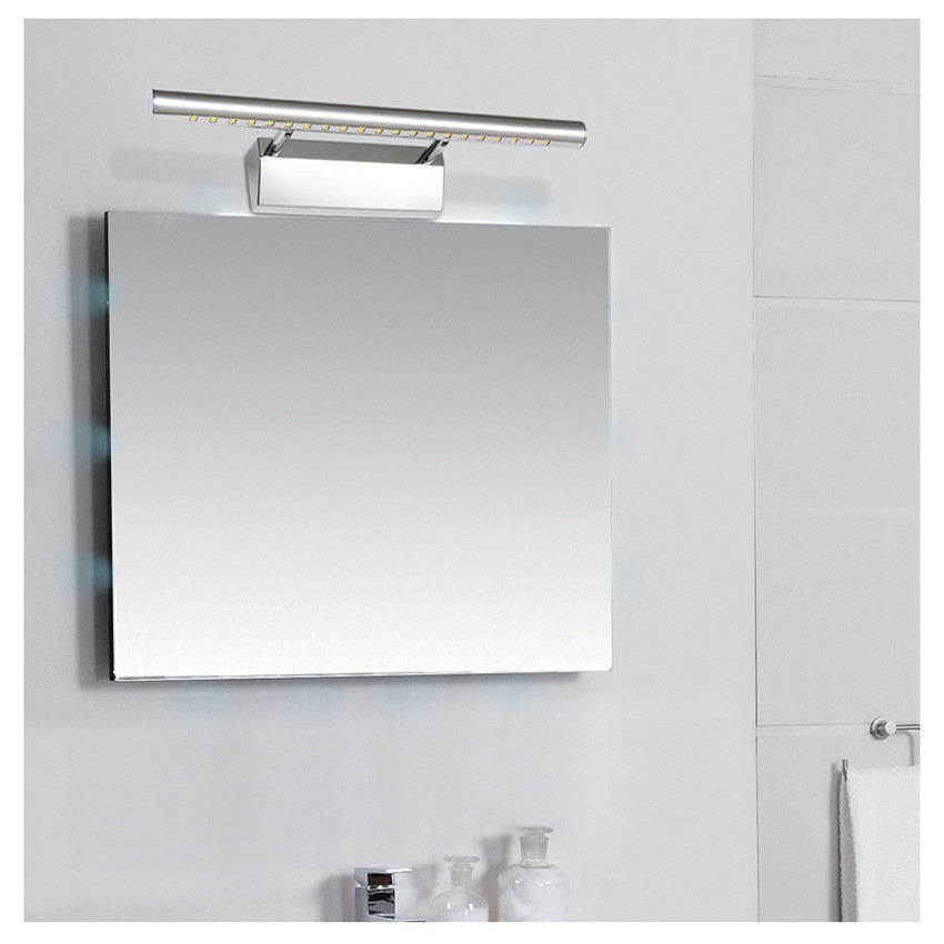 Aluminium Rotatif Eclairage Miroir Salle de Bain LED Luminaire Appliques Murale