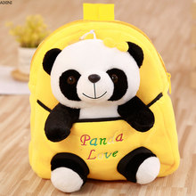 1Pcs Baby Kawaii Panda Backpack Bags Small Plush Toys for Children Student Girl Boy Kid Stuffed Doll Birthday Party Gift