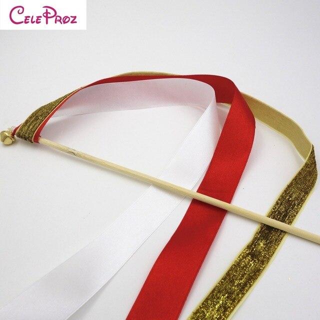 50Pcs Ribbon and Glitter Ribbon Wands Twirling Streamers Wedding ...