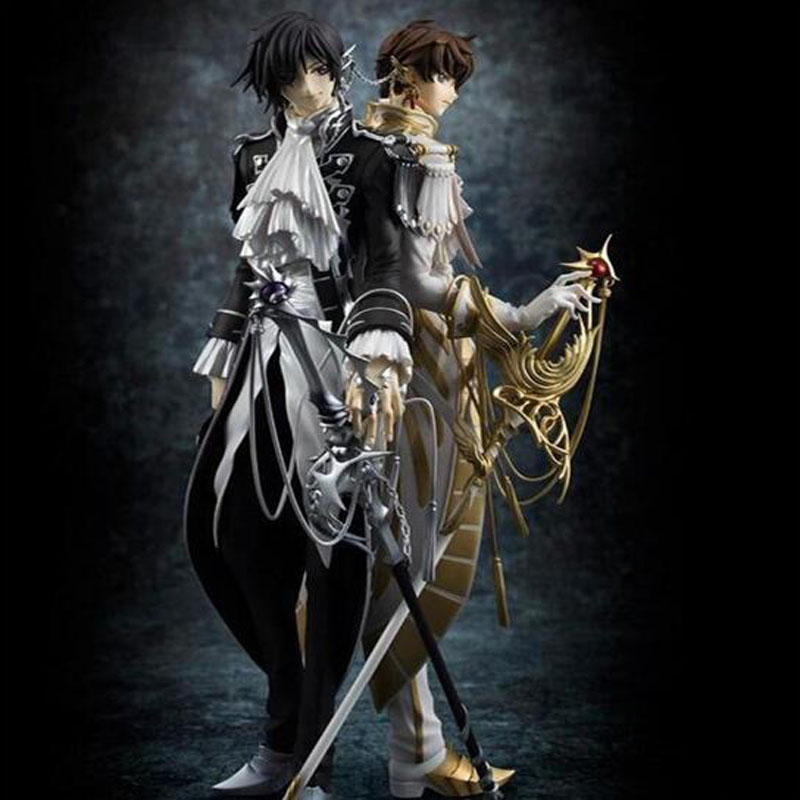 Code Geass Geass & Suzaku Kururugi Anime action model figure collection 2pcs/set 23cm with box toy gifts PVC Y7705 code geass lelouch of the rebellion beach ball c c anime sexy pvc action figure collectible model toy l1386