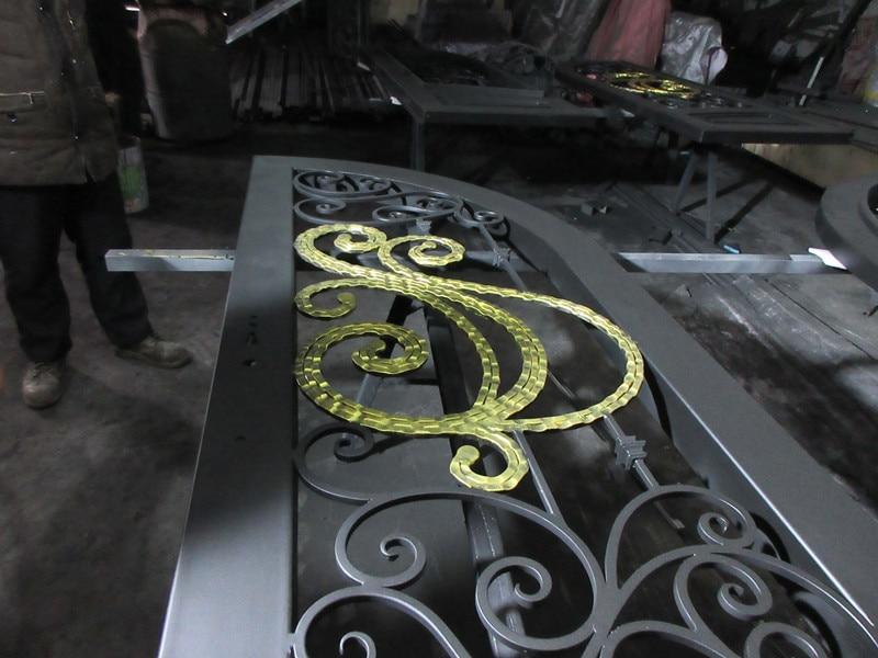 Custom made biggest jamb&door top quality wrought iron doors hench-id12