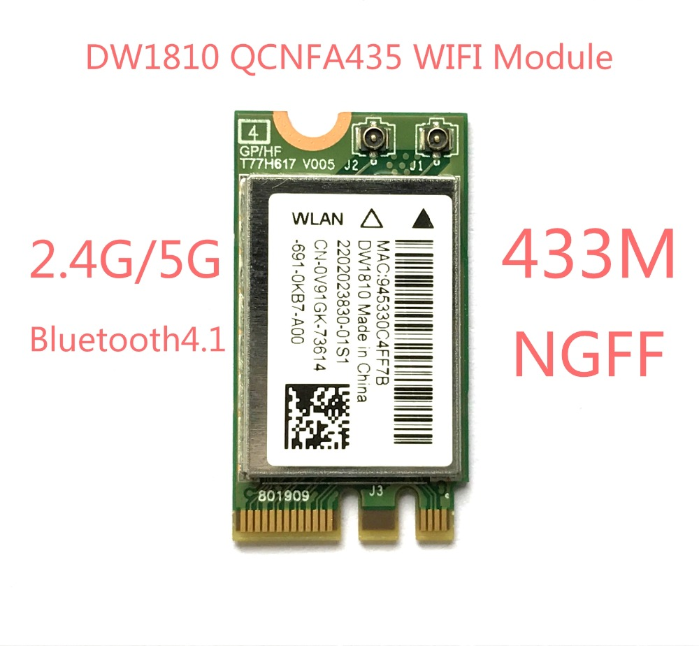 NEW DW1810 Ac NGFF 433Mbps BT4.1  WiFi Wireless Network Card QCNFA435 WIFI Module