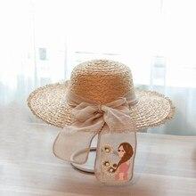 Hembra sunbonnet casquillo de la Playa Sol verano garishness Natrual rafia  sombrero de paja señoras moda clásica mujeres al aire. d951cc56a5f