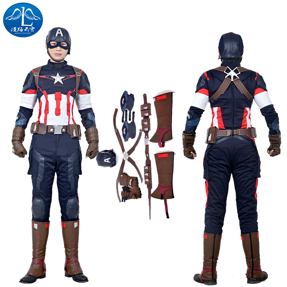 ManLuYunXiao 2017 Cosplay Costume Captain America Roleplay The Avengers 2 font b Men s b font