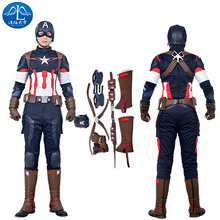ManLuYunXiao 2017 Cosplay Costume Captain America Roleplay The Avengers 2 Men's Jacket Mask Cosplay Custom Made