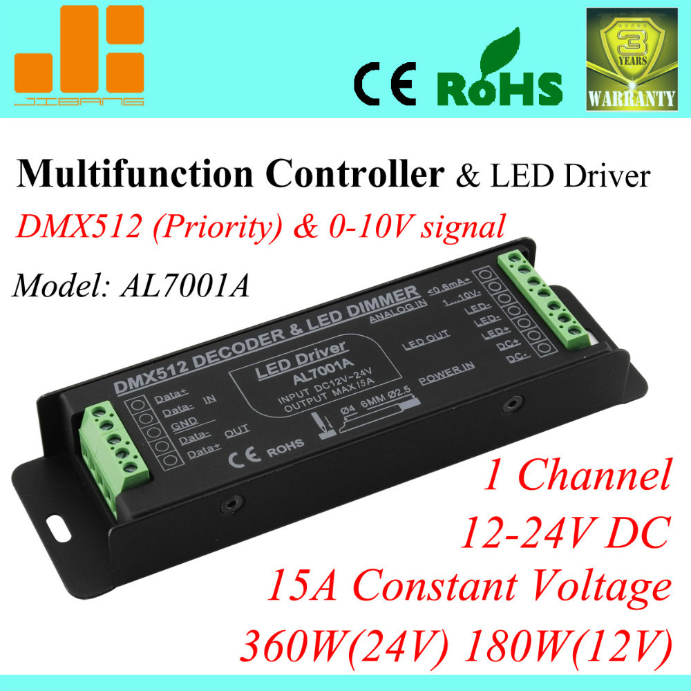 Free Shipping Top Selling Multifunctional Pwm Driver Dmx Dimmable Led Dimmer 010v Connection Diagram Drive 0 10v 1ch 15a 380w Pnal7001a In Dimmers From Lights