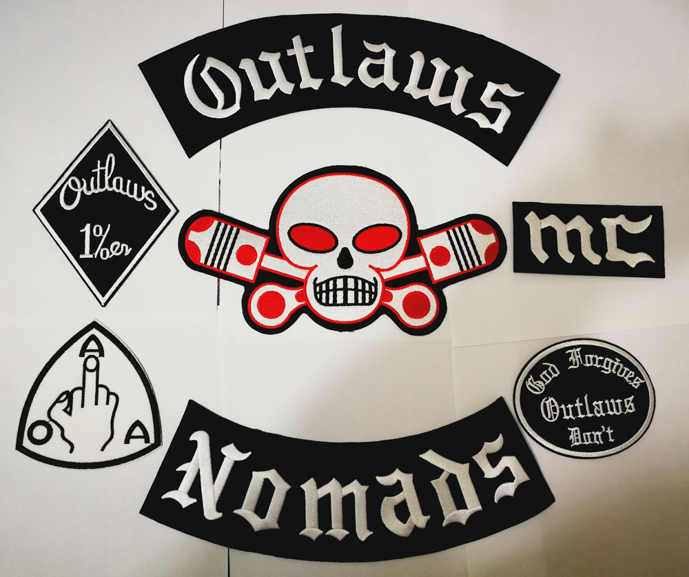 NEW ARRIVED 12PCS/SET BANDIDOS NOMADS MC PATCHES FOR THE