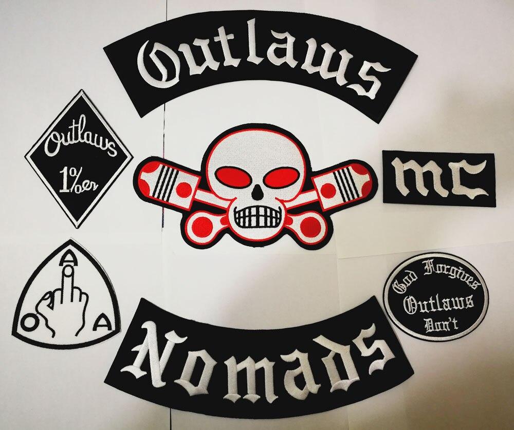 Outlaws Hells แพทช์ Nomads ปักเหล็กบน Biker Patches สำหรับรถจักรยานยนต์เสื้อแจ็คเก็ตเก่า HAMC Outlaws Patch-ใน แผ่นแปะ จาก บ้านและสวน บน AliExpress - 11.11_สิบเอ็ด สิบเอ็ดวันคนโสด 1