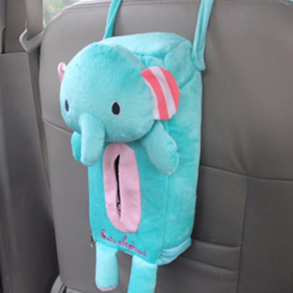 Kawaii Cute Cartoon Design Home Car Tissue Box Hanging Style Bathroom Storage Holder Portable Tissue Box For Baby Travel